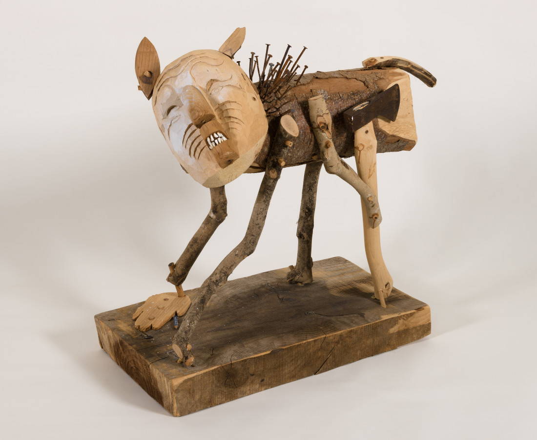 Rick Bartow, Man Acting Like Dog, 2009
