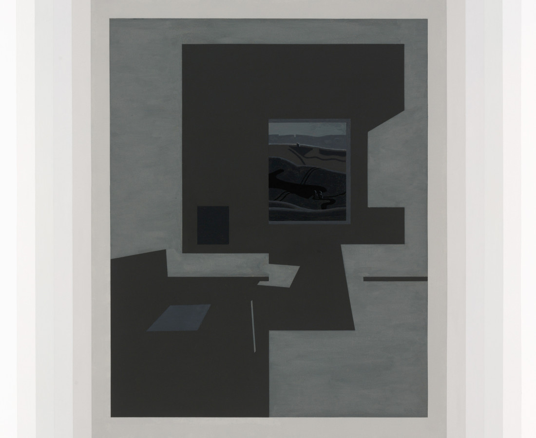 Benny Fountain, windowroom out side (sun and hill), 2019