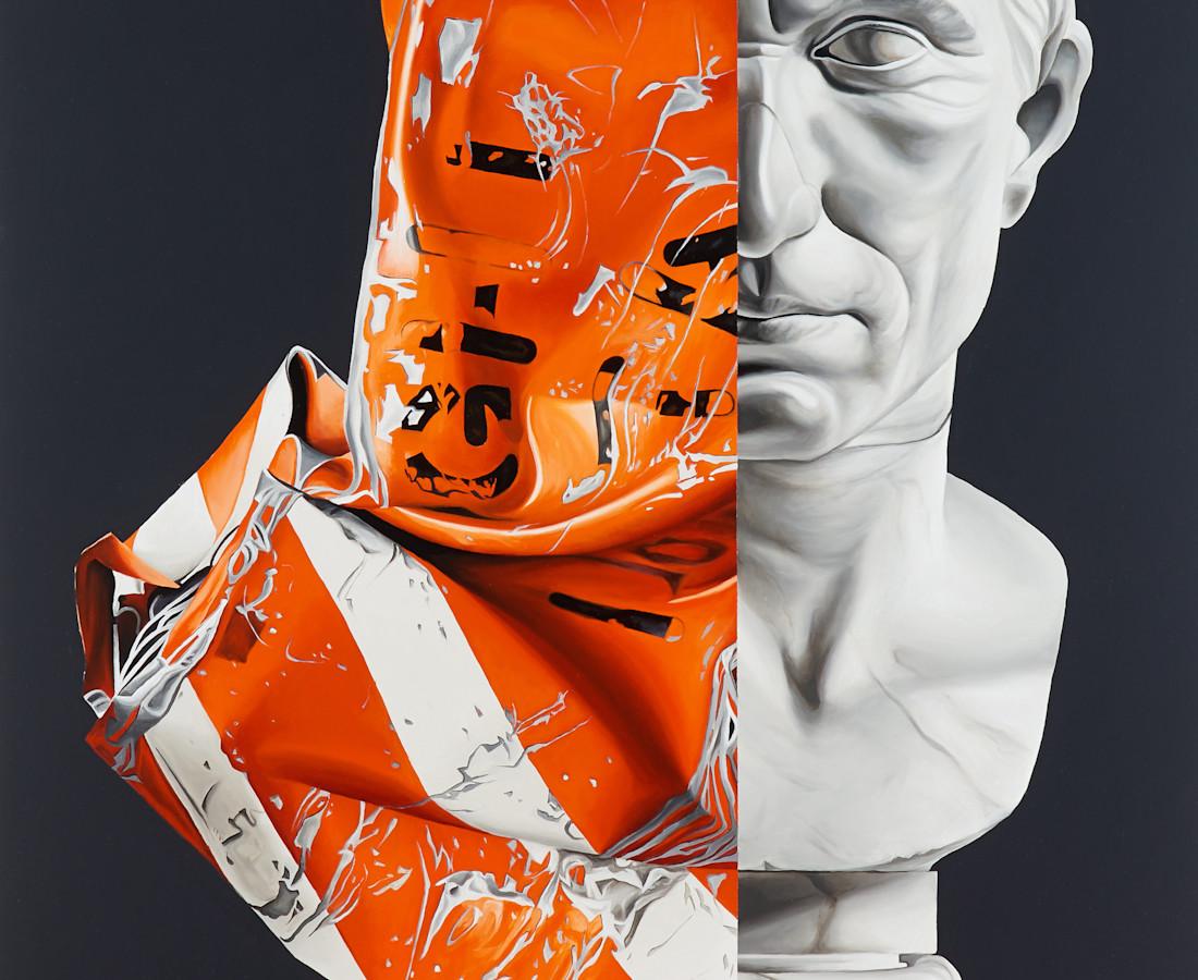 Jake Scharbach, Fairchild 5424-501 Flight Data Recorder- Jeffrey Milstein Marble portrait head of Julius Caesar, Augustan period, 30-20 B.C., Musei Vaticani, Rome, 2017