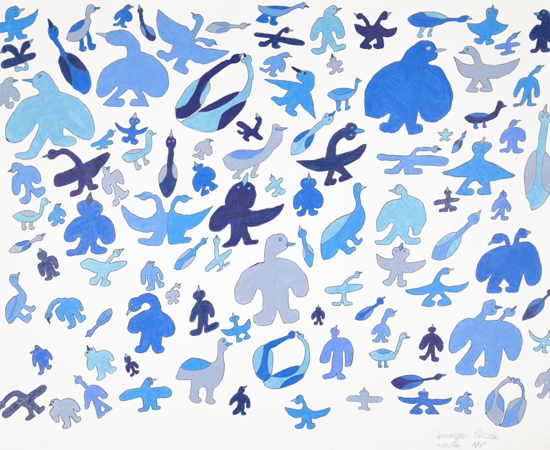 Saimaiyu Akesuk, Untitled (Blue Birds), 2017