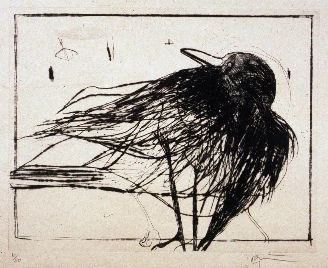 Rick Bartow, Looking Back Crow, 2001