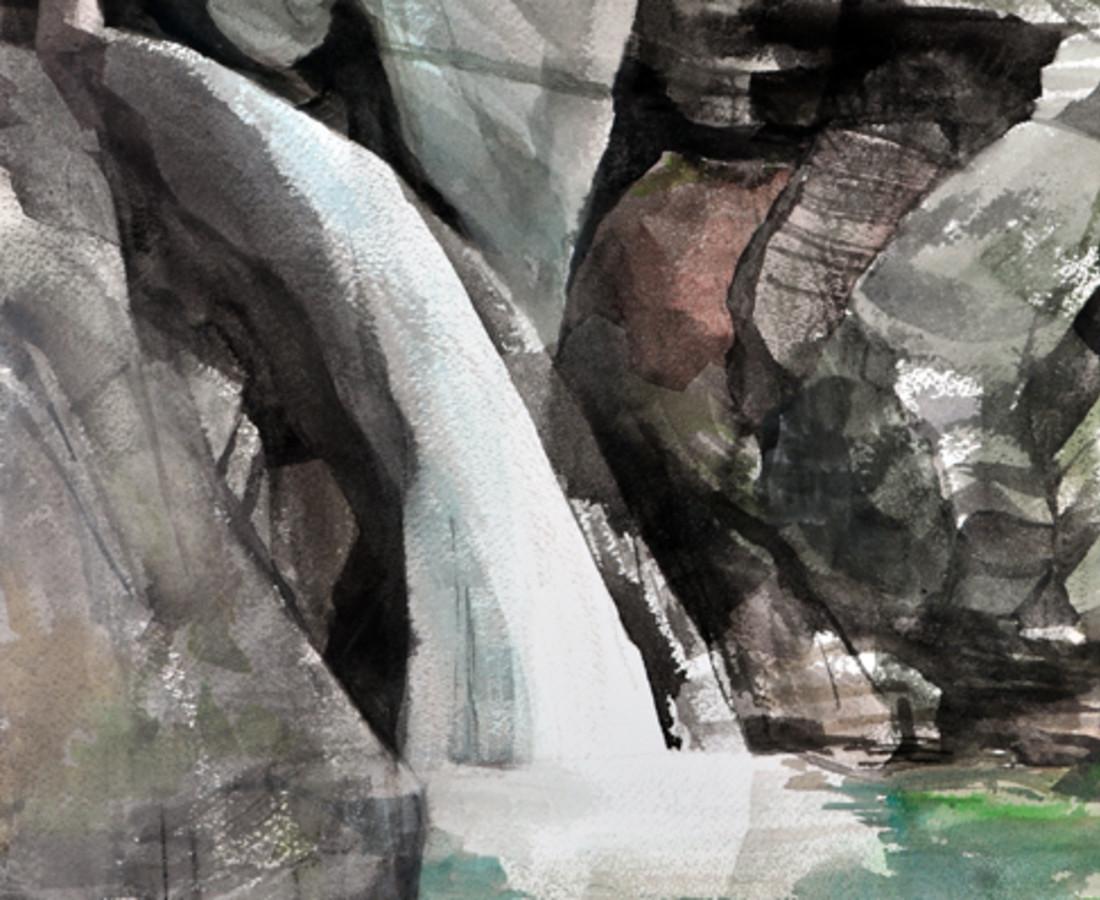 Mariella Bisson, Bingham Falls, Field Painting