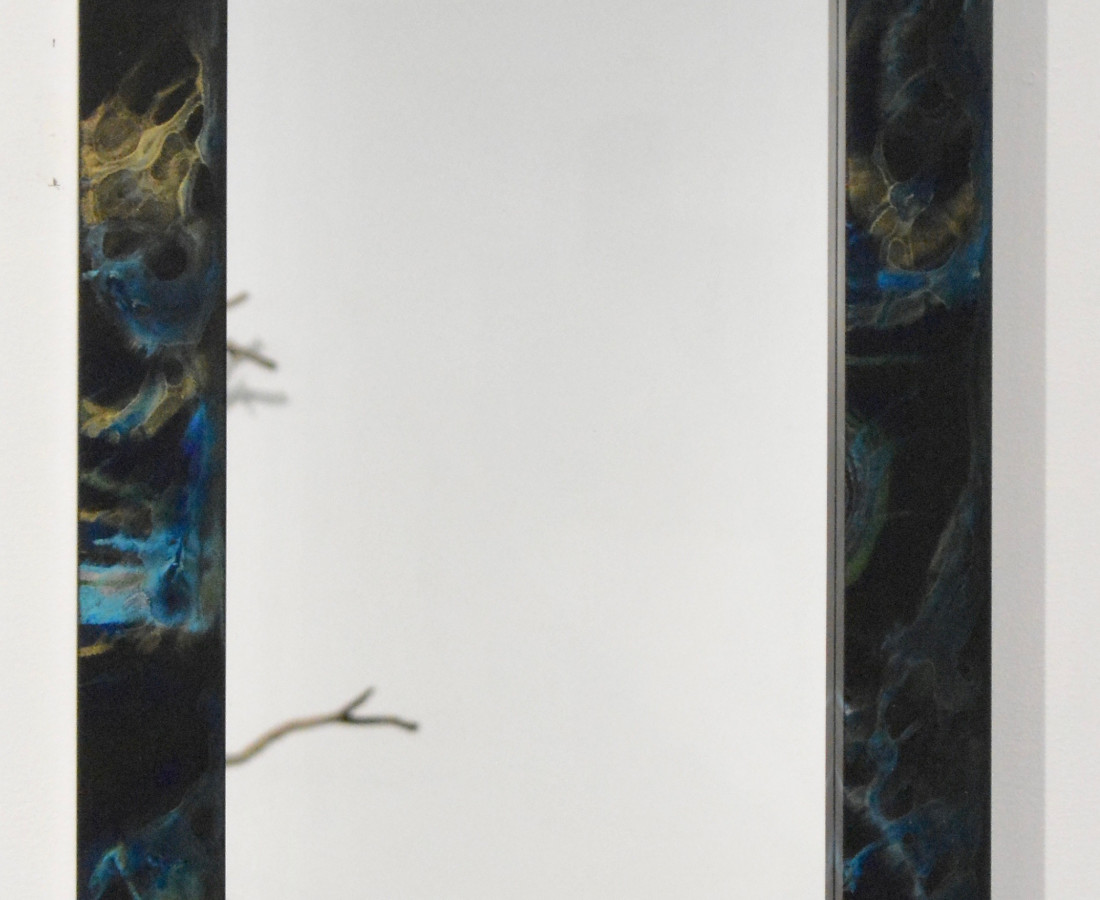Sylvie Rosenthal, Marbleized Mirror (Rectangle in Black)