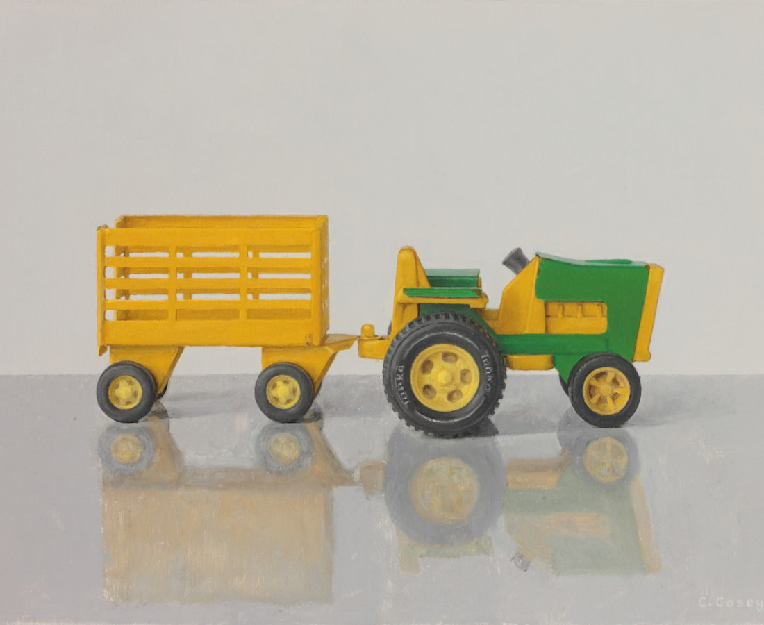 Comhghall Casey, Toy Tractor and Trailer (Tonka)