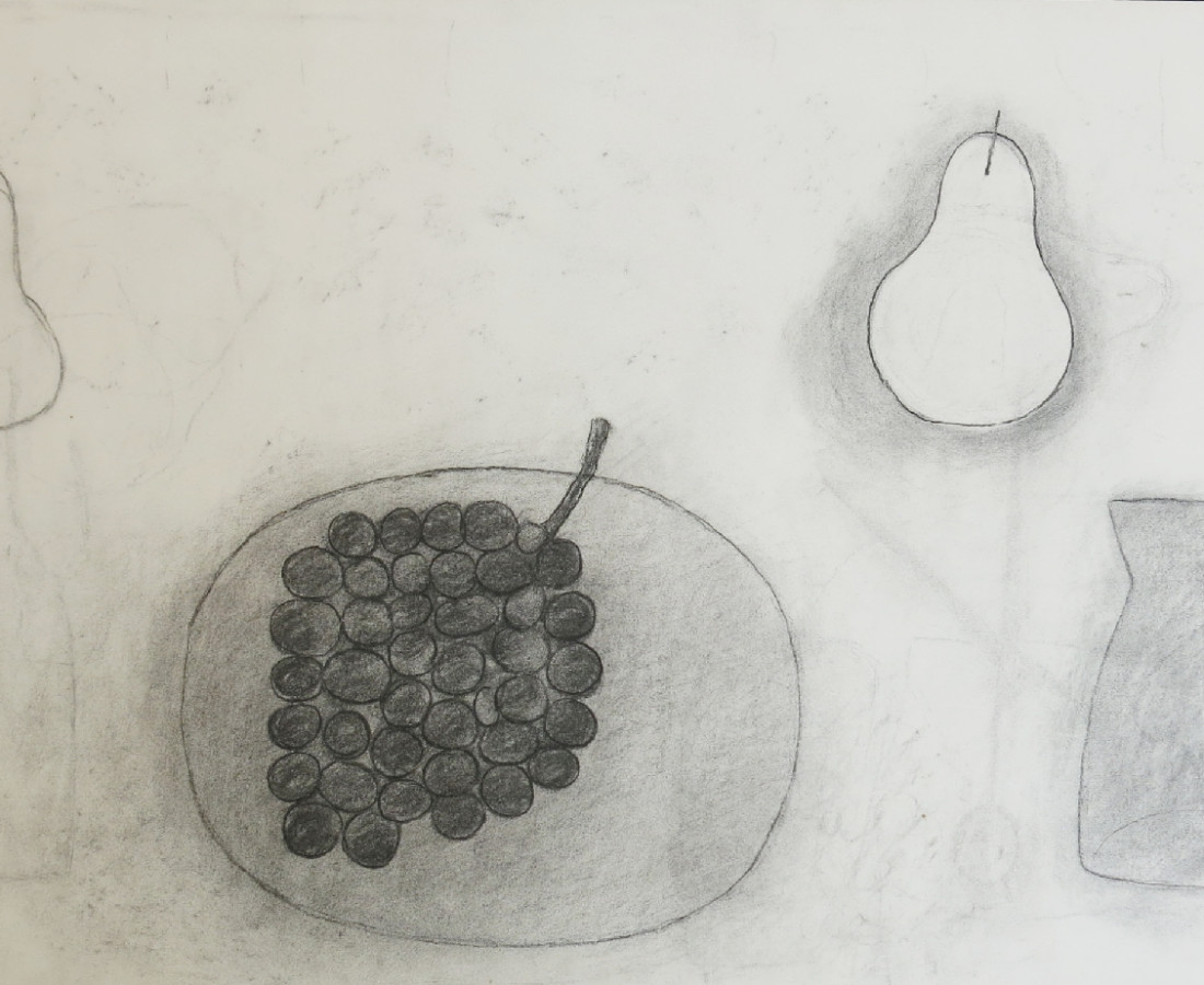 William Scott, Untitled (Plate, Grapes, Pear & Jug), 1975
