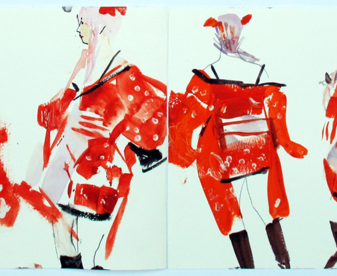 John Short, Cosplay dancer, Beijing (China sketchbook)