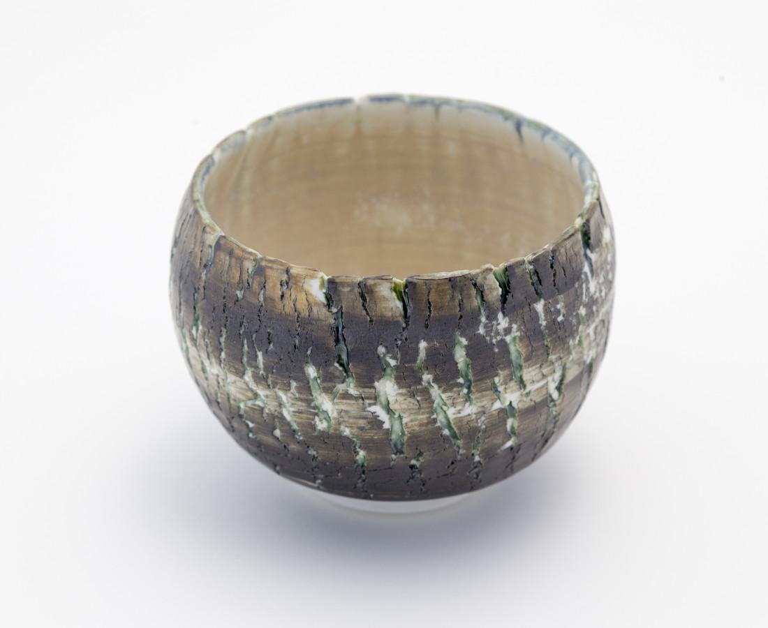Hugh West, Small Black Crackled Bowl