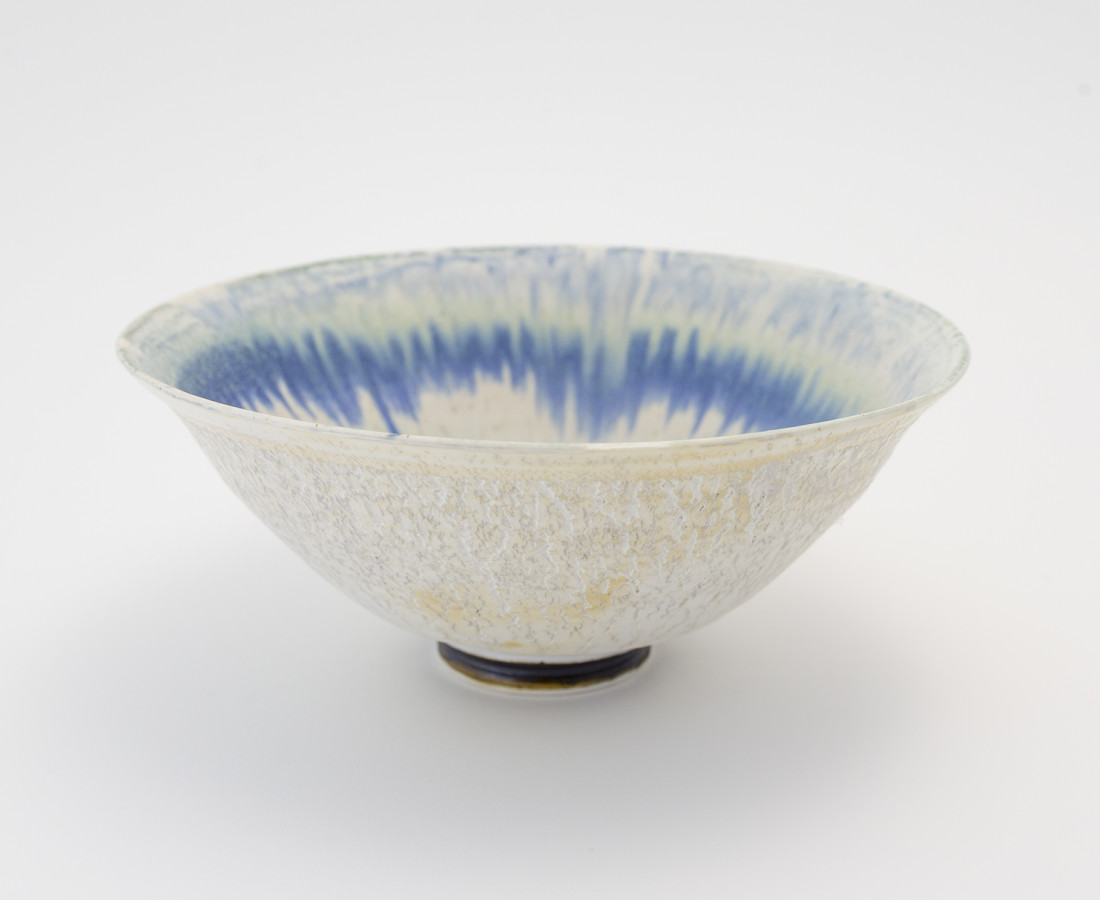 Hugh West, Crackled Blue Glaze Bowl
