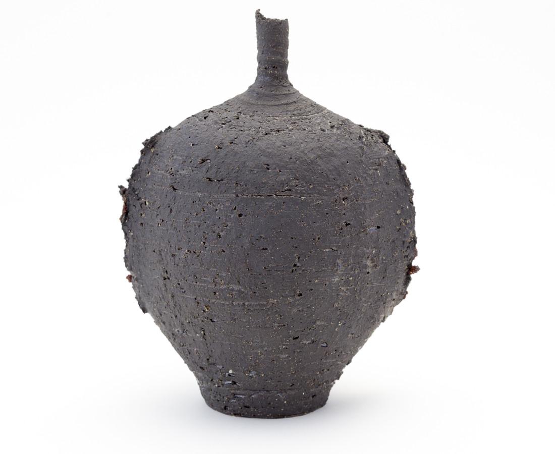 Hugh West, Black Oval Bottle Vase