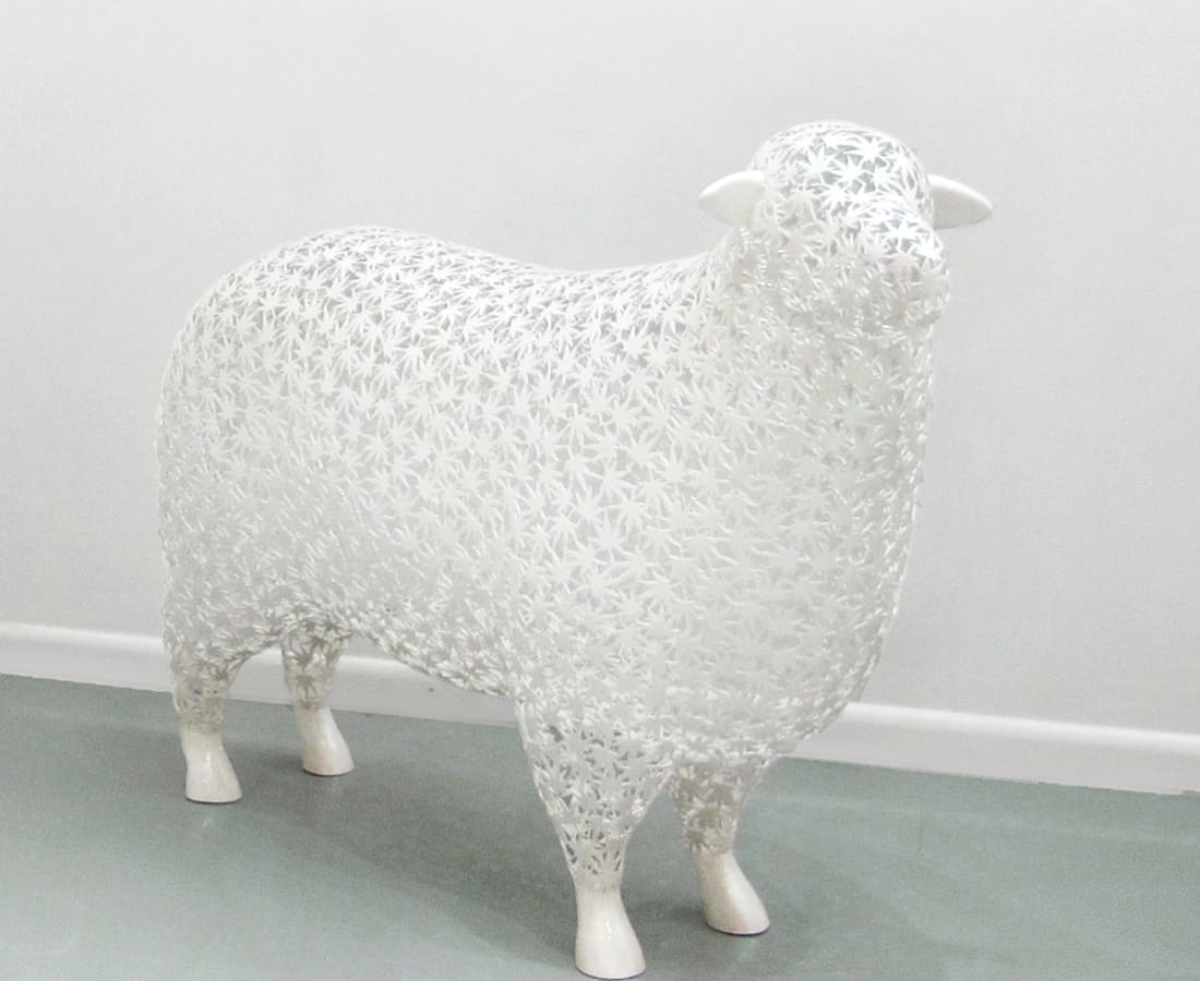 Byungjin Kim, Sheep_Maple_Leaf, 2015