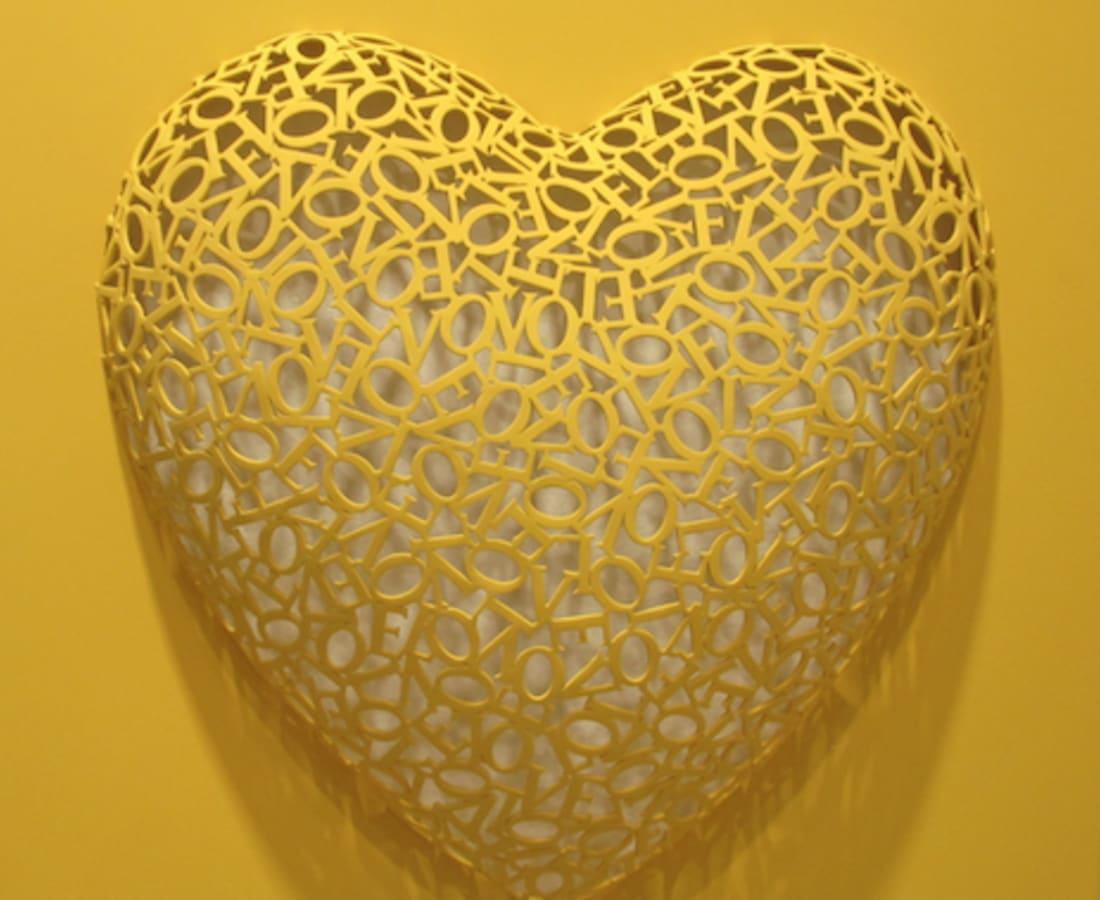 Byung Jin Kim, Love-Love (Yellow, matte), 2016