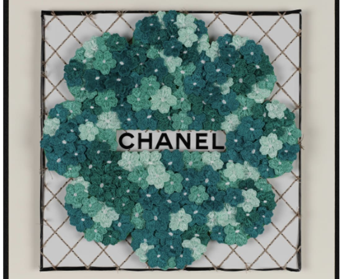 Stephen Wilson, Chanel Flower Flower (Teal)