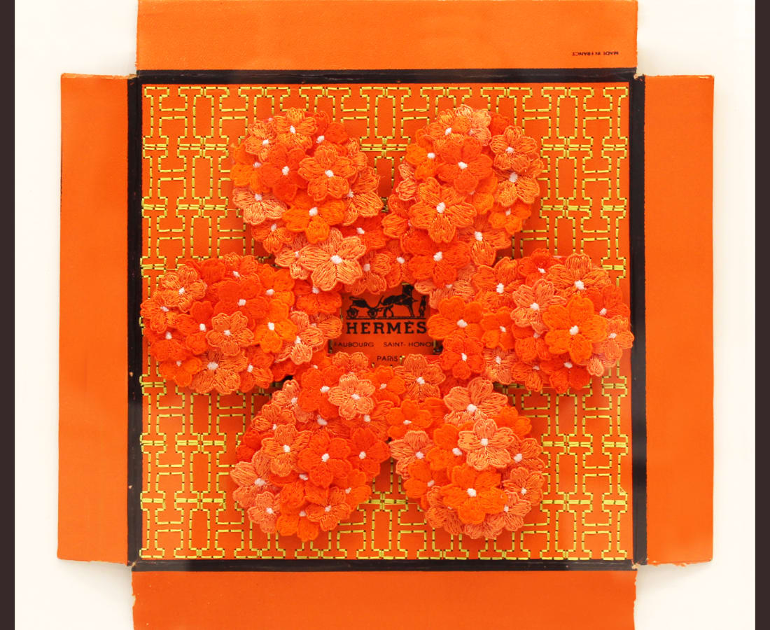 Stephen Wilson, Hermes Flower Flower, Orange