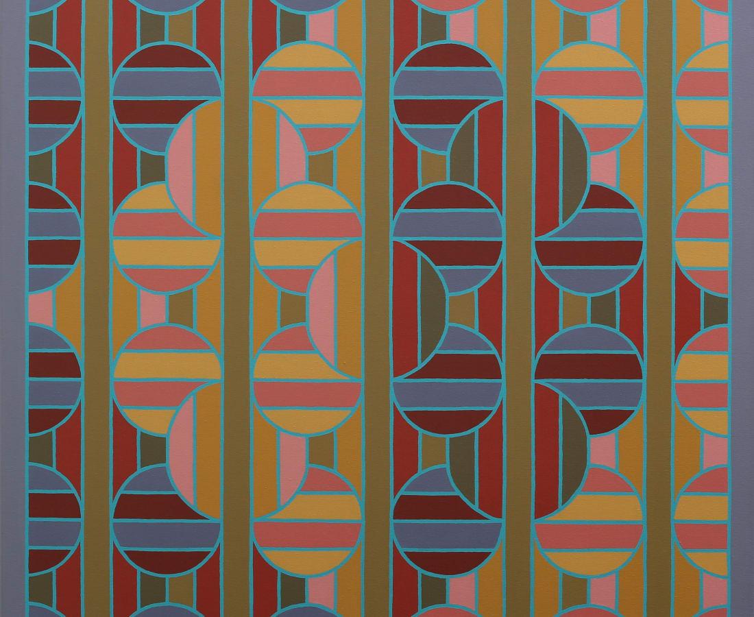 ROY OSBORNE, Chromotopia 27 (Per Pale) Divisions series, 2013