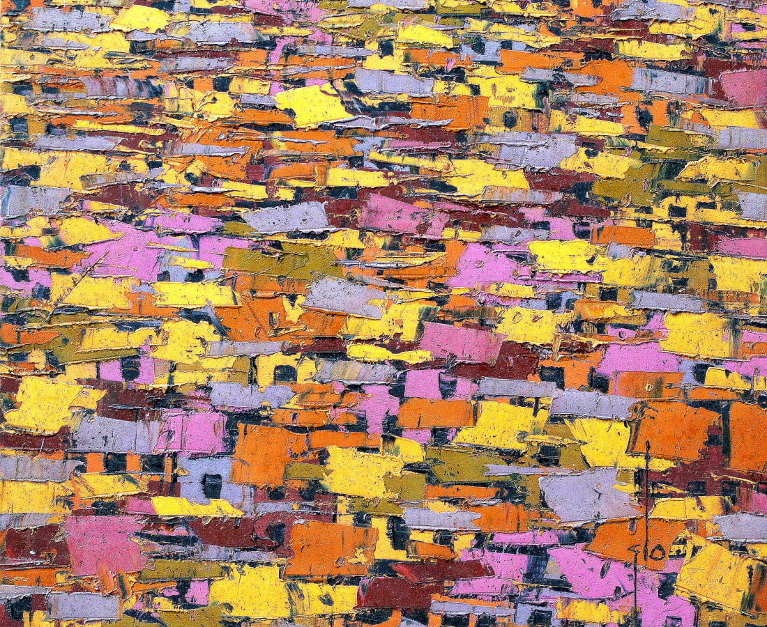 Ablade Glover, Orange Townscape , 2013
