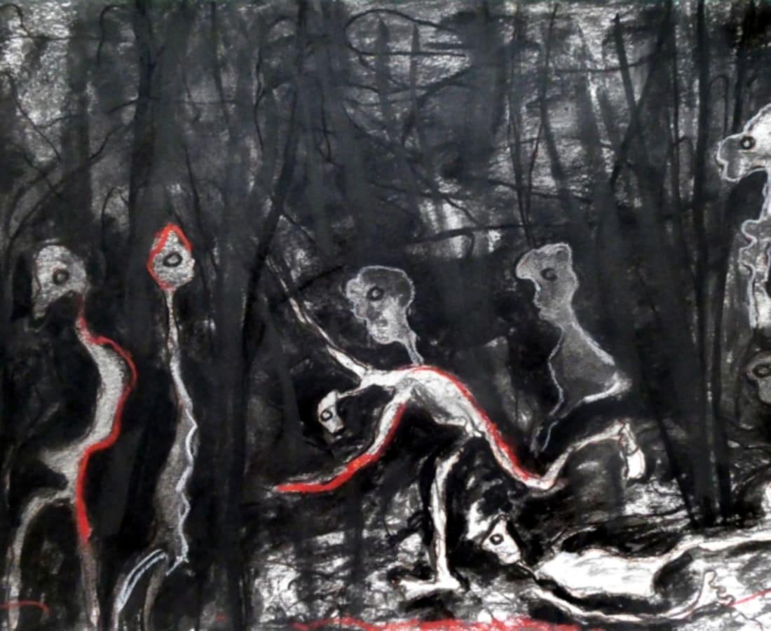 Rodrigue Obodjé, Esprits de la forêt 4, 2019