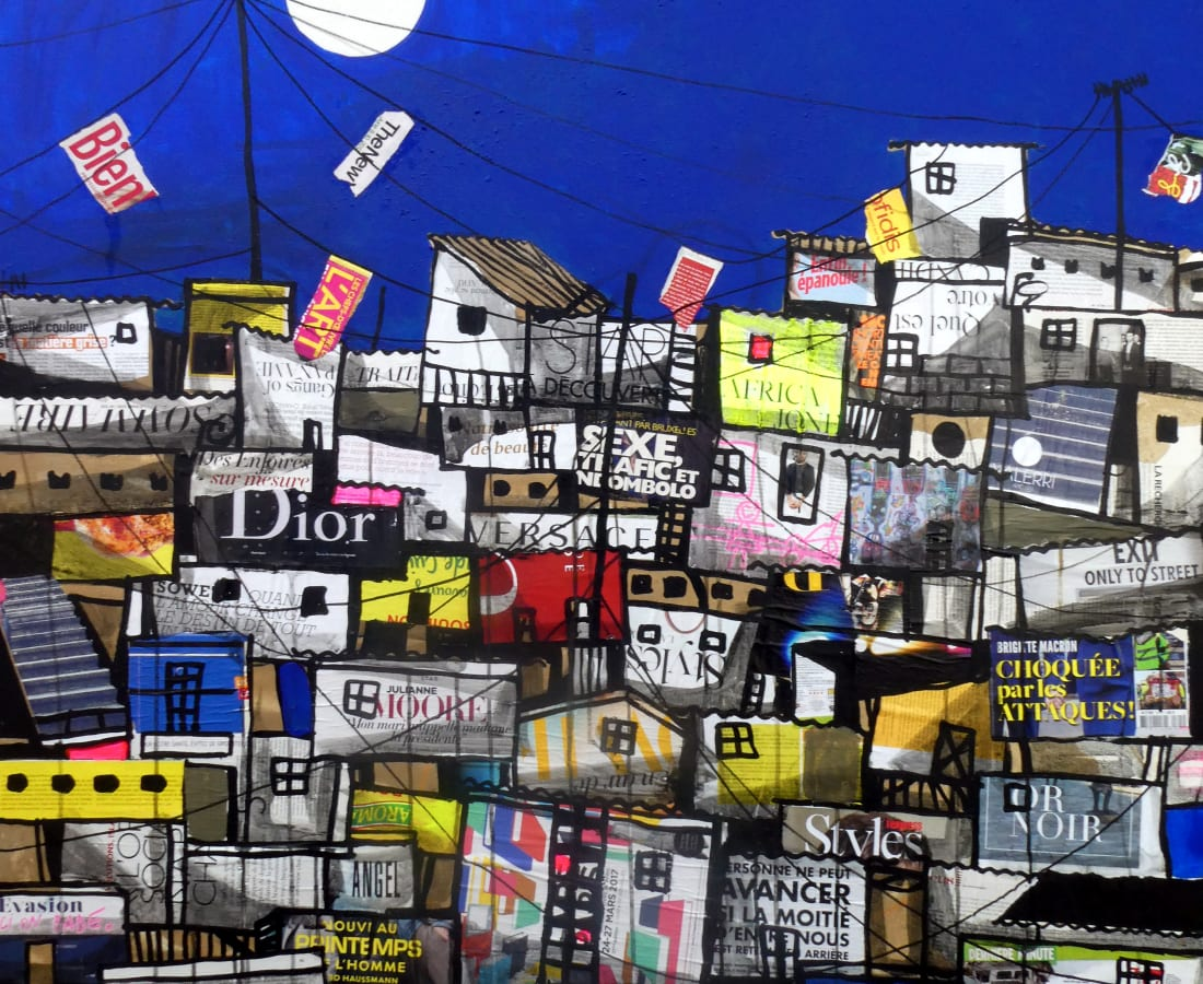 Obou Gbai, Locodjro Stree Collage 1, 2019