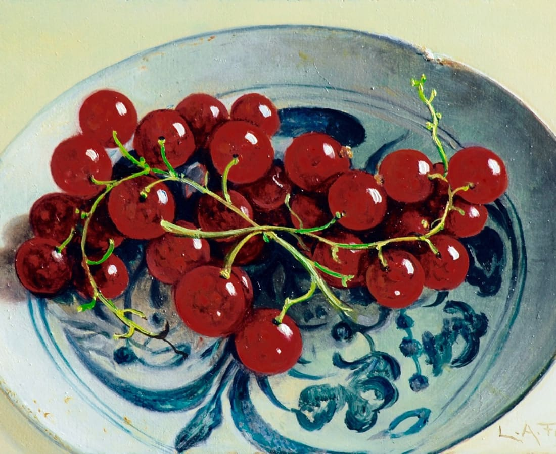 Lion Feijen, Chinese Dish with Redcurrants