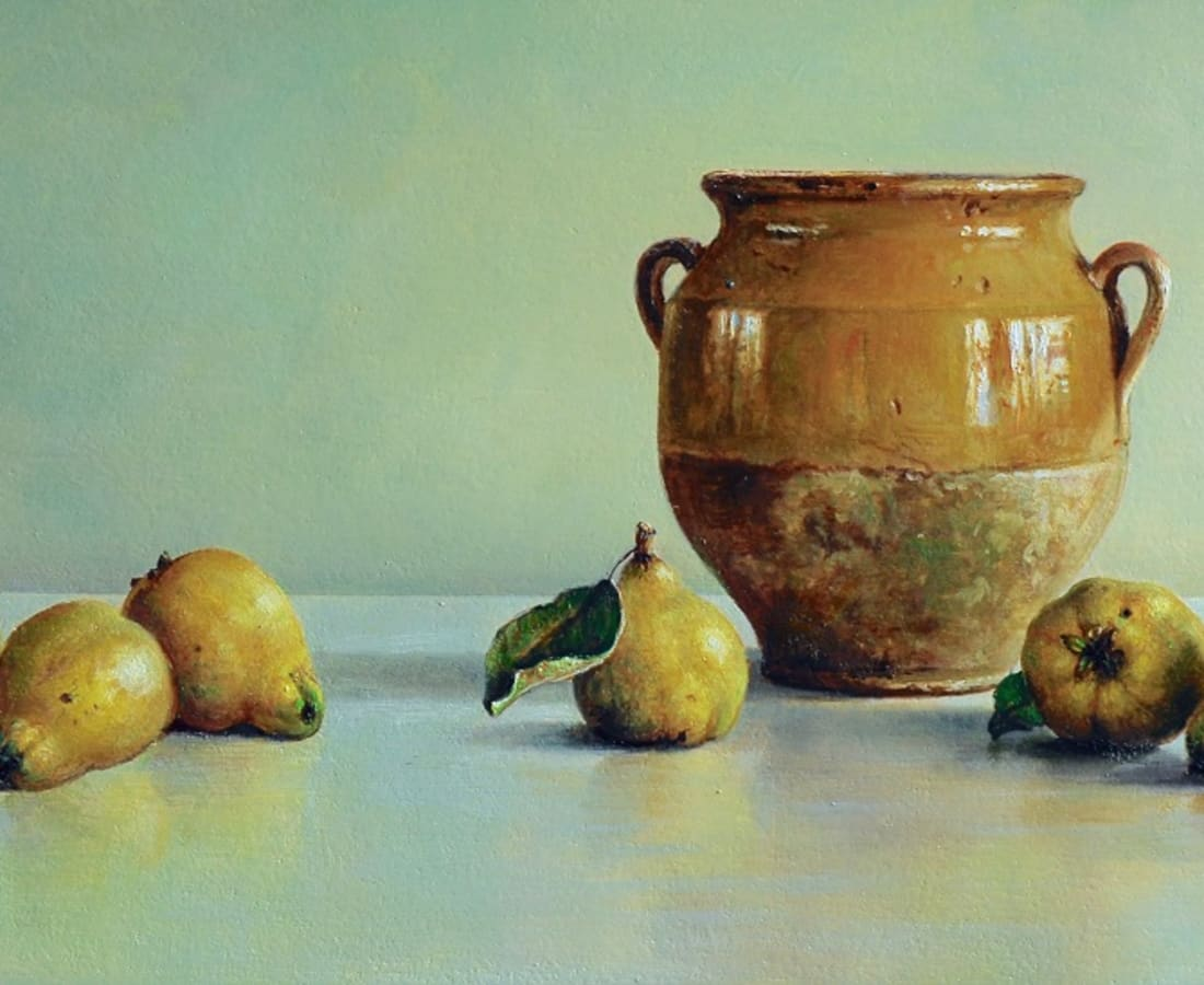 Lion Feijen, Yellow Pot with Quince