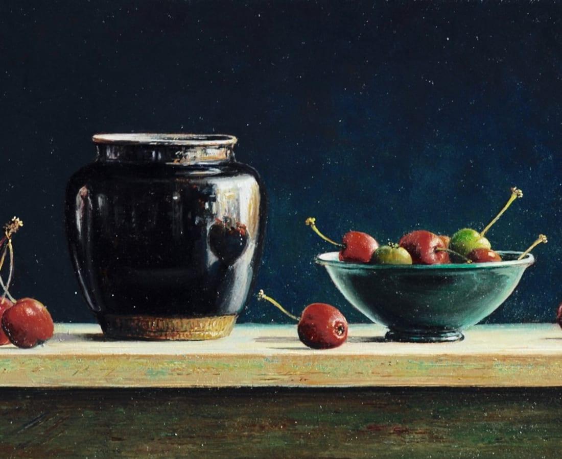 Lion Feijen, Little Black Pot with Malus Apples