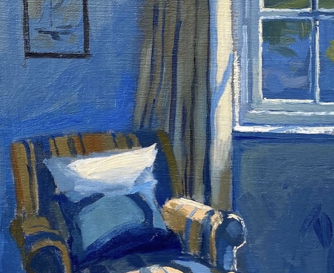 Daisy Sims Hilditch, Early Light on Cornish Bedroom Chair