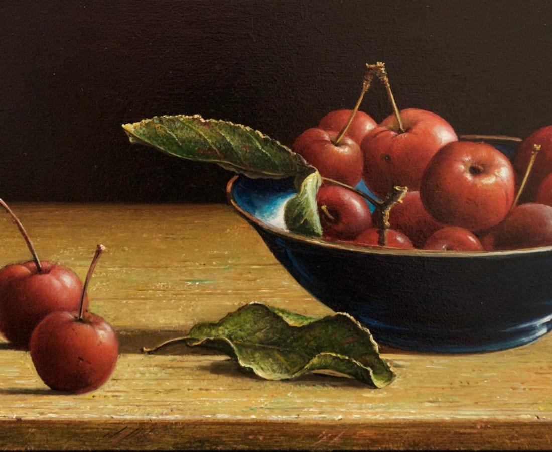 Lion Feijen, Crab Apples in Blue Bowl
