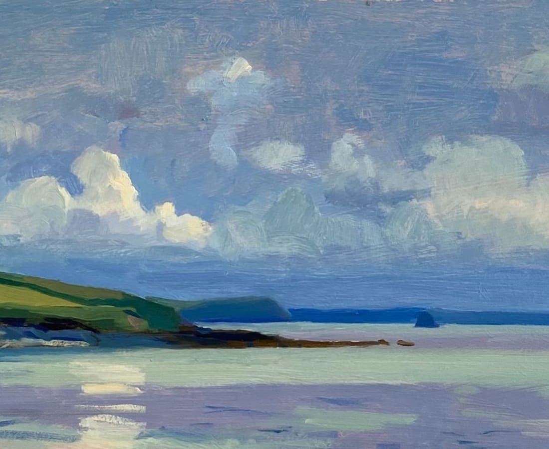 Daisy Sims Hilditch, Billowing Clouds over the Roseland Peninsula from Towan Beach