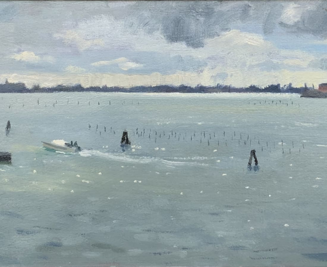 Daisy Sims Hilditch, Evening Light, the Lagoon