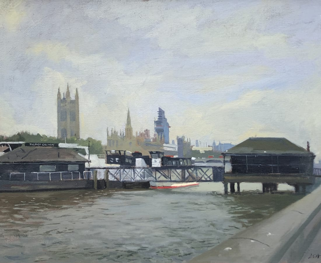 Daisy Sims Hilditch, London Greys from Lambeth Bridge