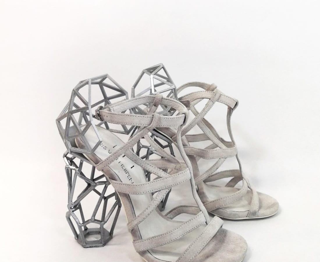 Iris van Herpen, Aeriform Shoes white