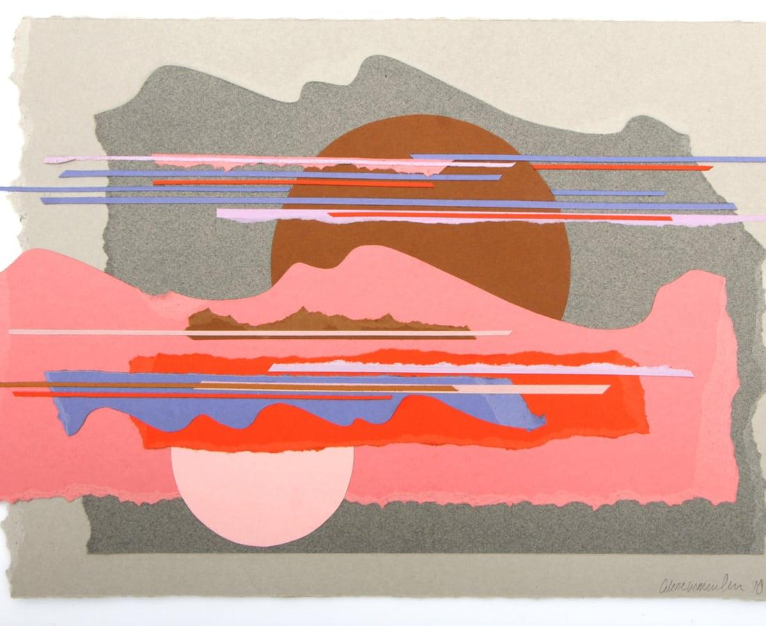 Colette Vermeulen, Grey Landscape, Pink Cloud