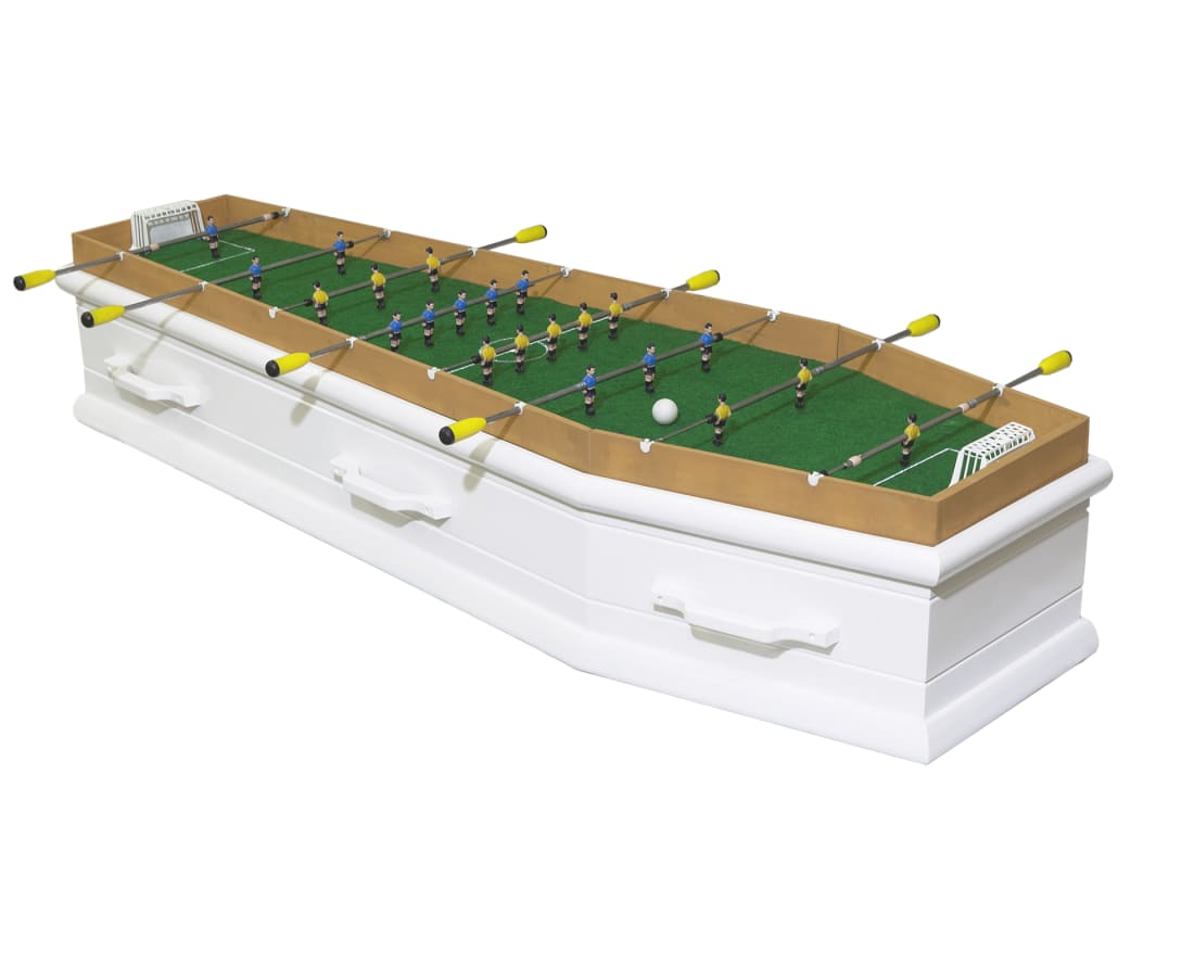 #RIP - Football table coffin, 2019