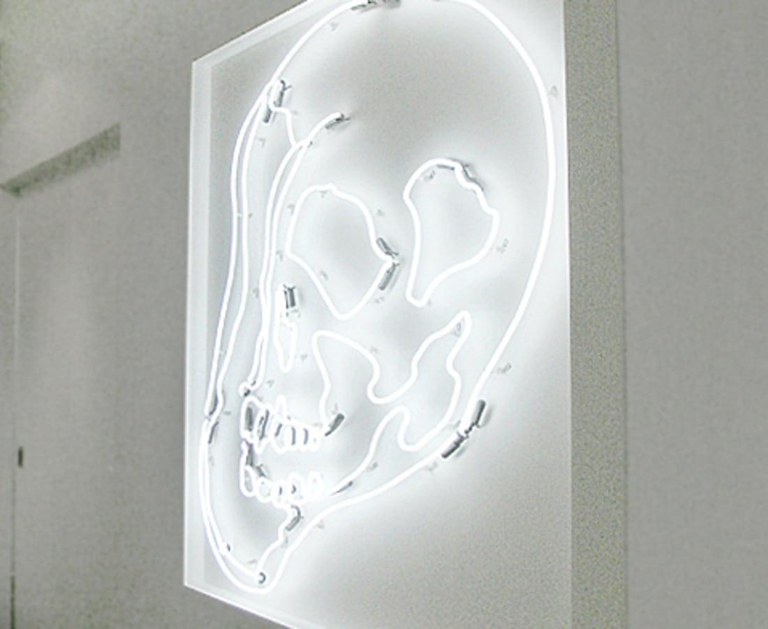 Anne Katrine Senstad, White Warhol Neon Skull LG, 2009