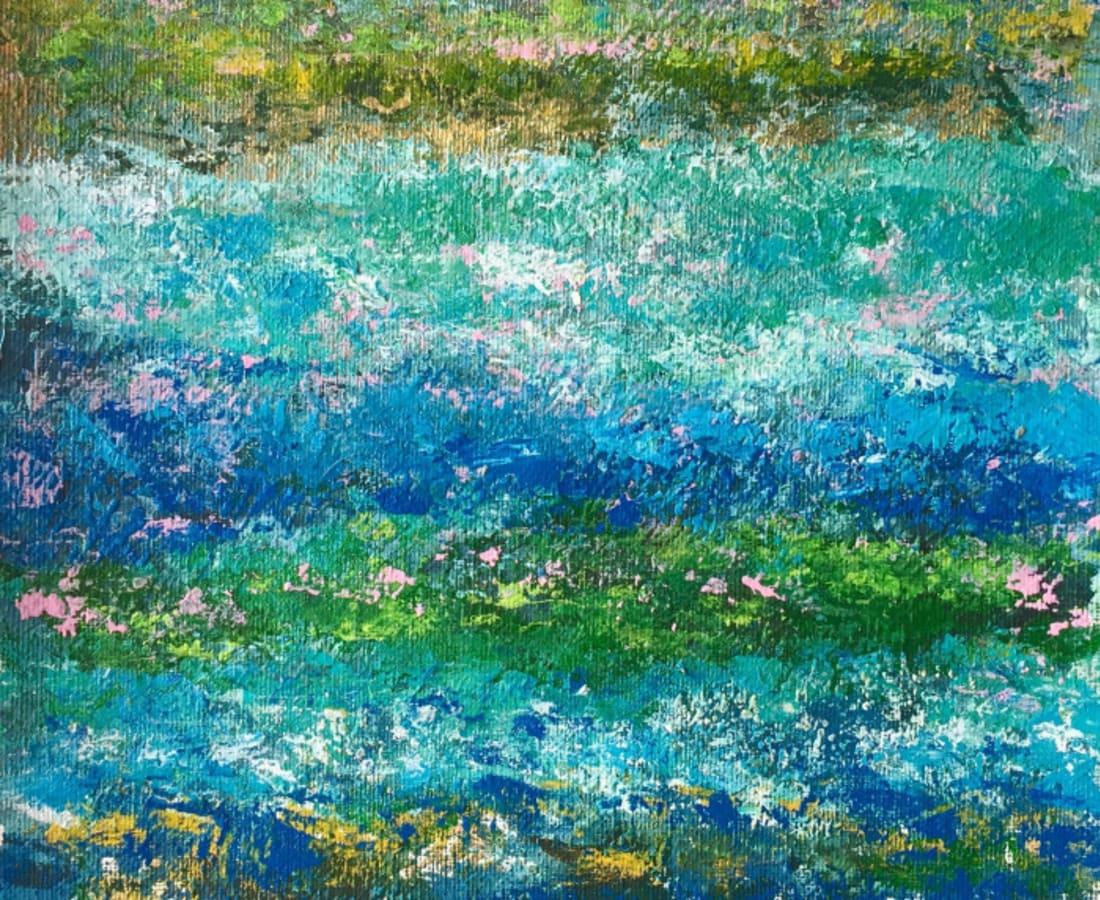 Victoria Borisova, Blue-Green obsession II (Framed 11x14), 2017