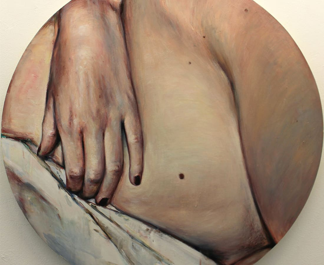 Kati Verebics, Nude with birthmarks II, 2018