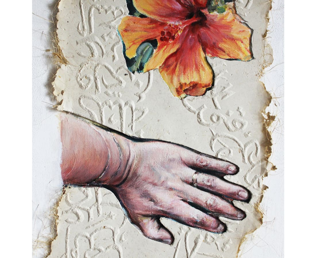 Kati Verebics, Hand and flower II, 2019