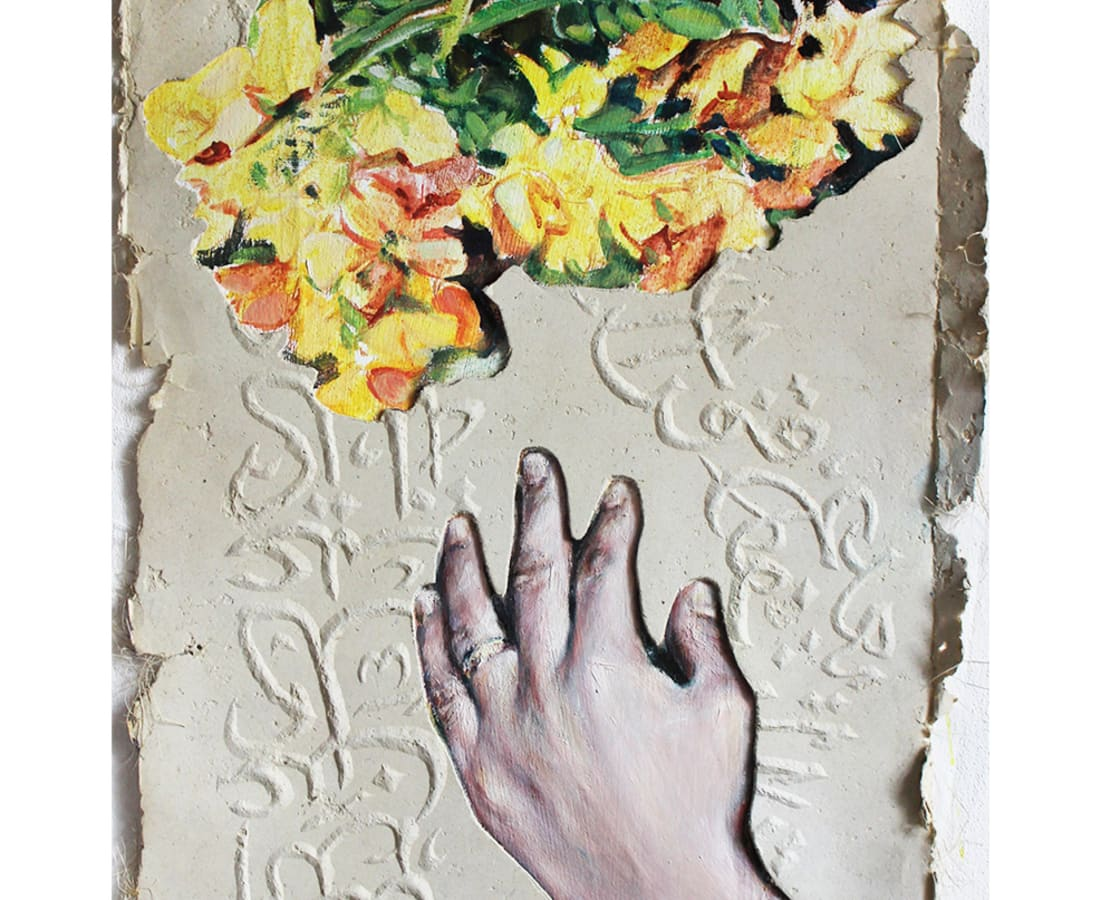 Kati Verebics, Hand and flower I, 2019