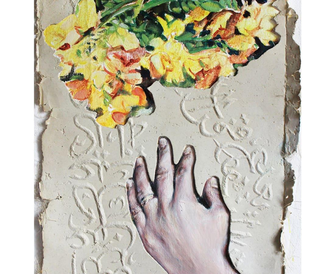Kati Verebics, Hand and flower I, 2019