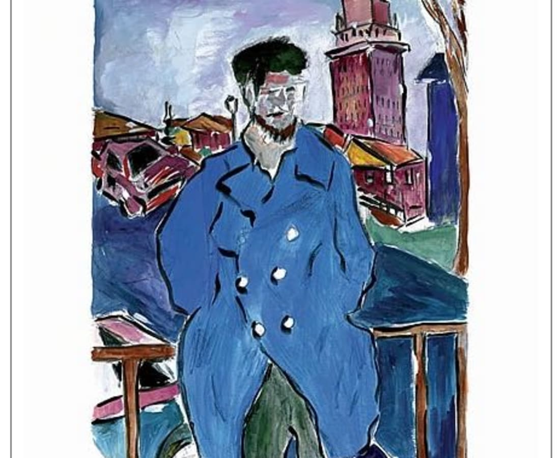 Bob Dylan, Man On A Bridge (blue), 2008
