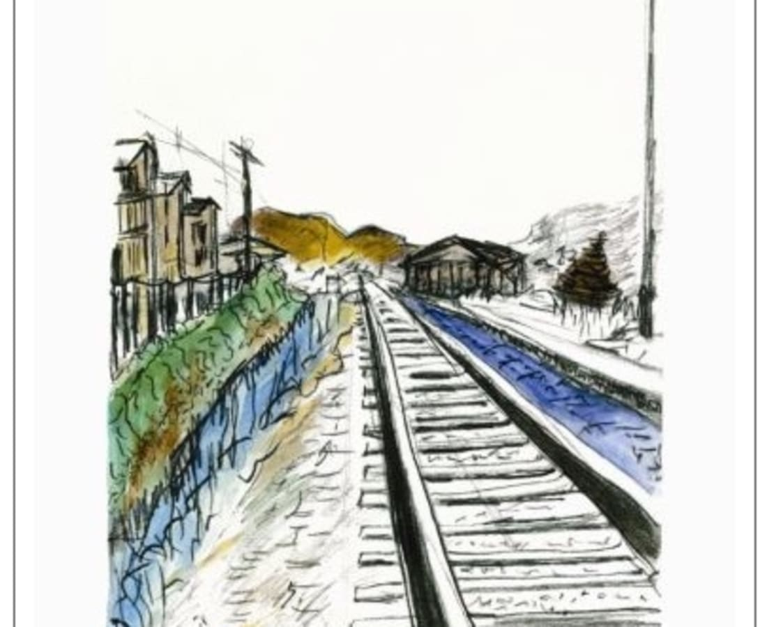 Bob Dylan, Train Tracks (white - medium format), 2012