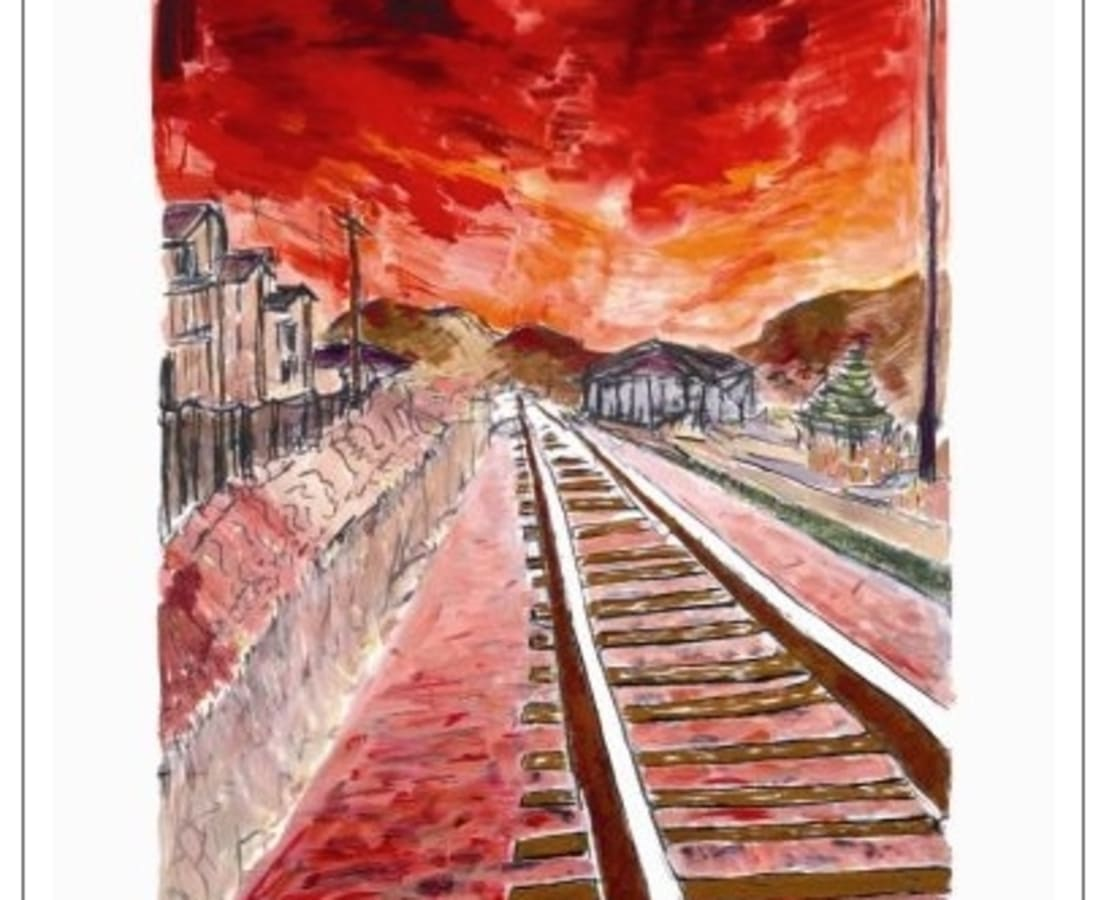 Bob Dylan, Train Tracks (red - medium format), 2012