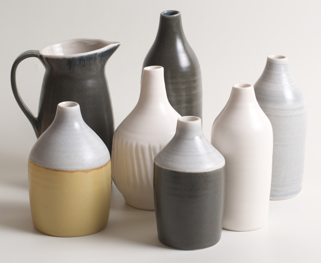 Linda Bloomfield, thrown porcelain vessels