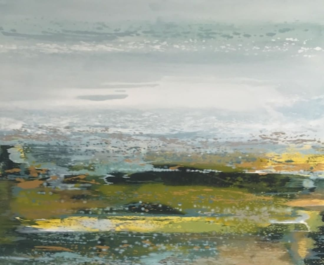 Rebecca McLynn, 'Verdure', oil on canvas, H 113 cm x 123 cm