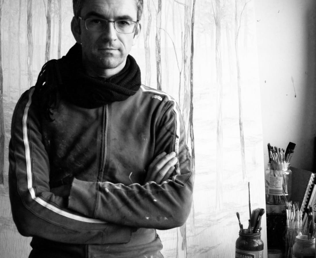 Daniel Ablitt in his studio