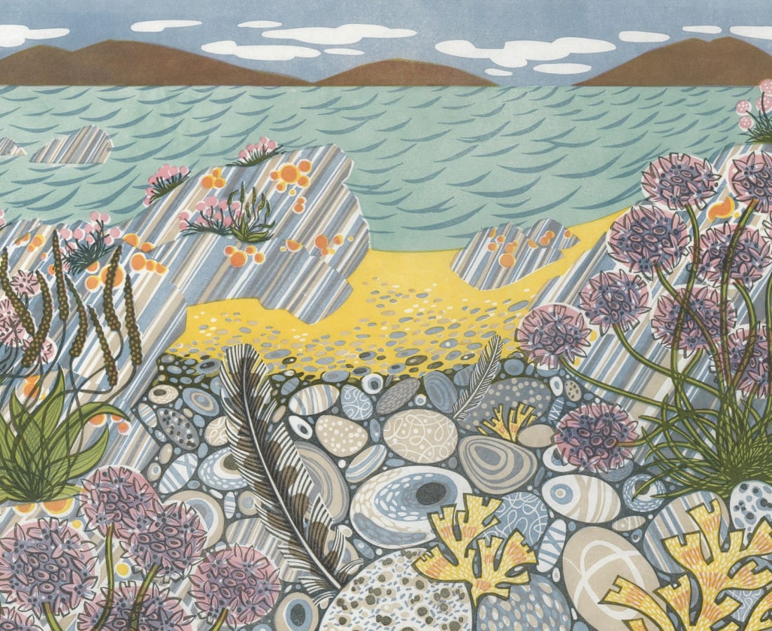 Angie Lewin, 'Pebble Shore'