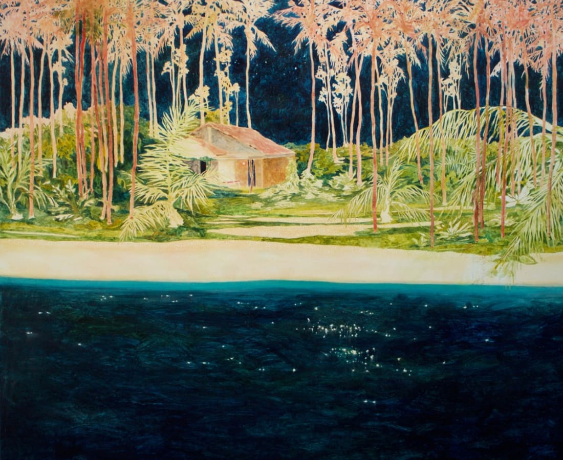 Daniel Ablitt, 'Red Palms (Warm Night)', oil on panel, H 121.5 x 122.5 cm