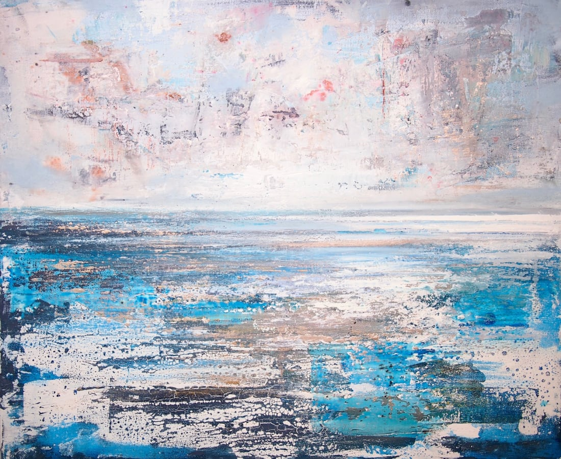Peter Kettle, Mild Day, Rest Bay, Mixed Media, H 50 cm x 60 cm