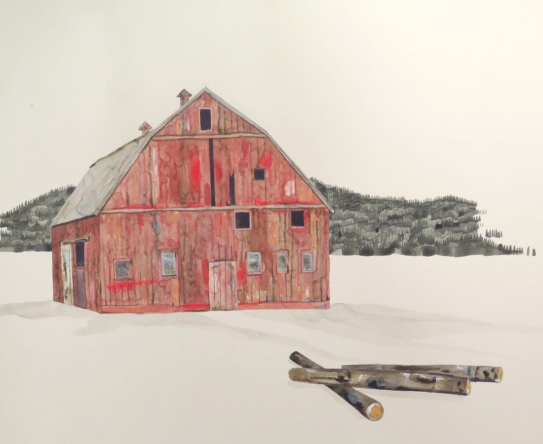 Kate Evans, Red Barn at the Forest's Edge