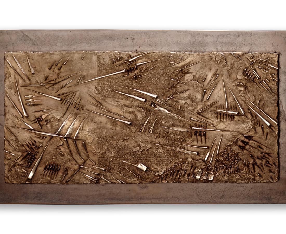 Arnaldo Pomodoro, Frammento VII, da L'Arte dell'uomo primordiale di Emilio Villa, 2004