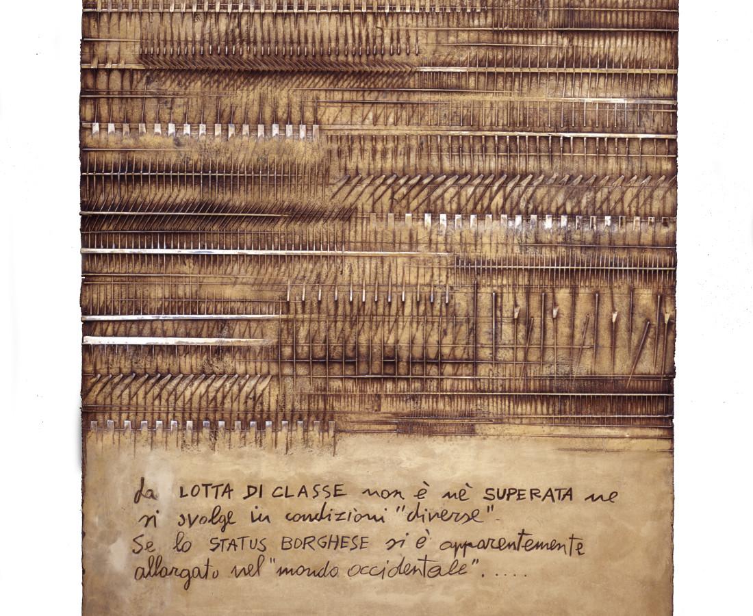 Arnaldo Pomodoro, Cronaca 7: Gastone Novelli, 1976